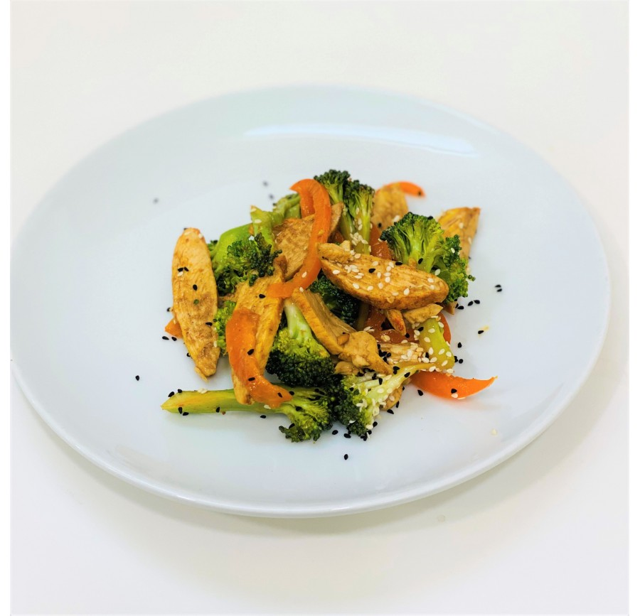 Broccoli with chicken grill