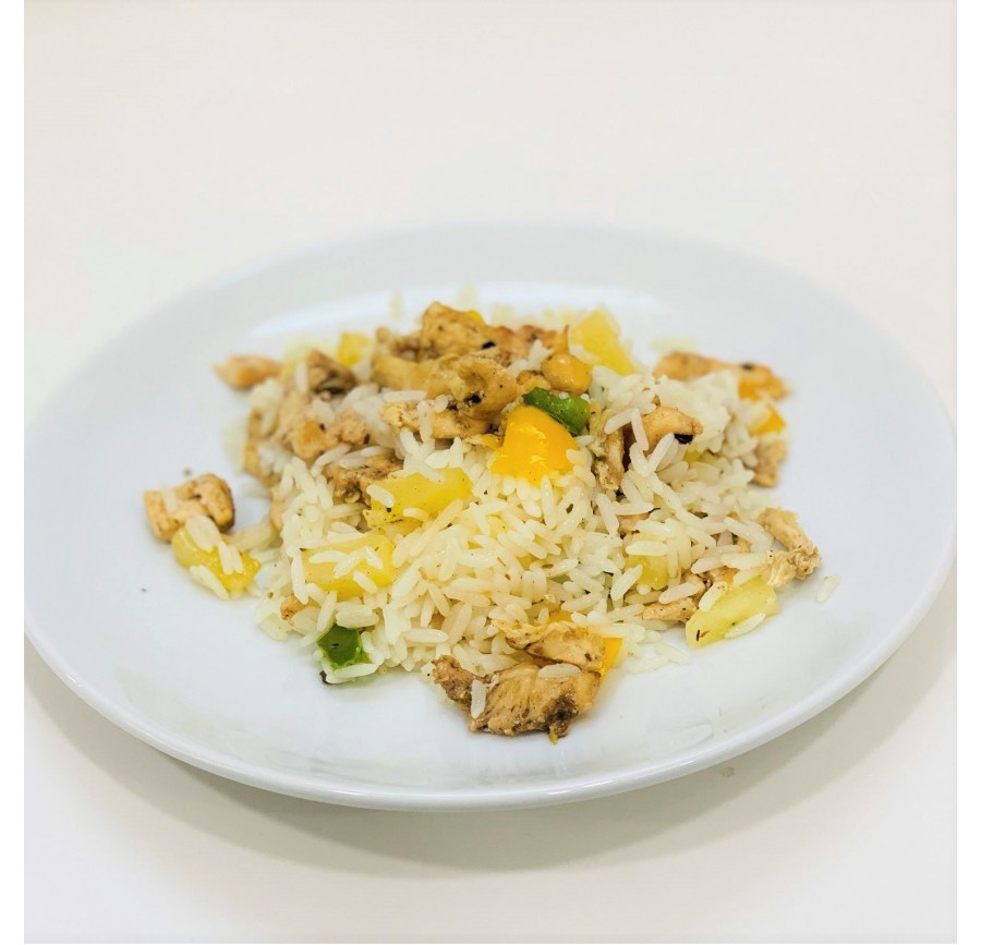 Rice with pineapple&bell pepper